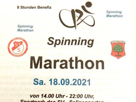 Spinning Marathon am Samstag, 18.09.2021 mit dem SV Seligenporten! Seid dabei!!!