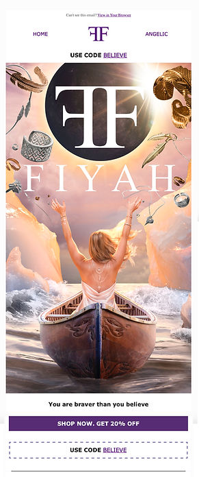 FIYAH email advertisement
