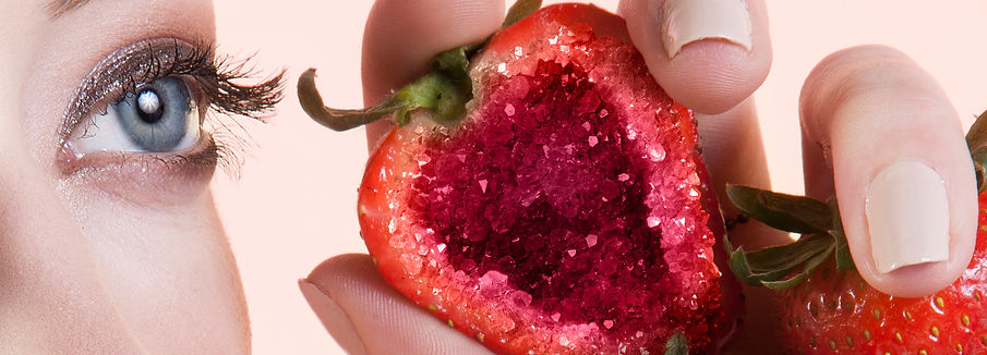 strawberry crystal photoshop
