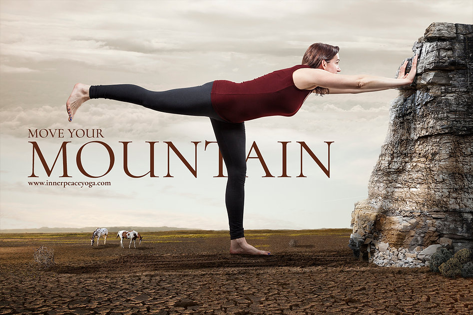 indianapolis conceptual yoga advertising movig mountain