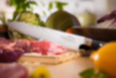 Kitchen knife food Amazon Product Photography