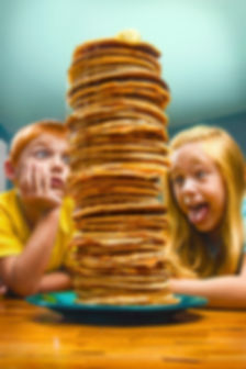Giant pancake stack commercial advertising portrait photography indianapolis