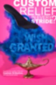 advertising photography shoe insert blue smoke cloud genie lamp