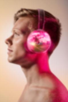 audio book music headphone landscape composite conceptual commercial advertising photography