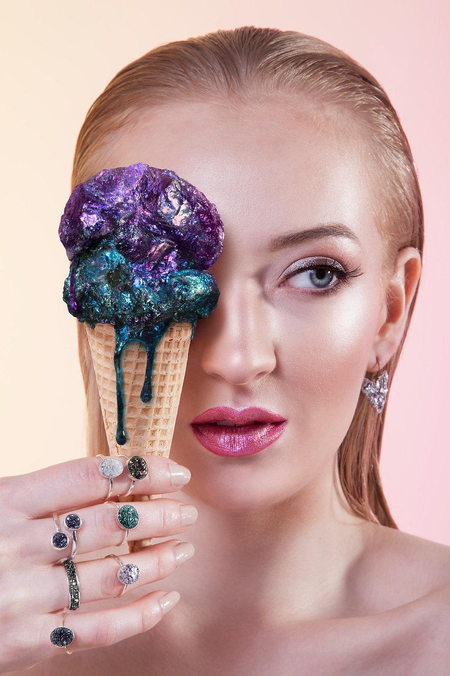 icecream jewelry advertising