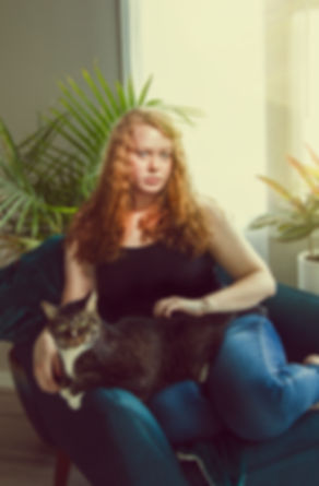 Katelin Kinney Indianapolis Advertising Photographer self portrait with cat