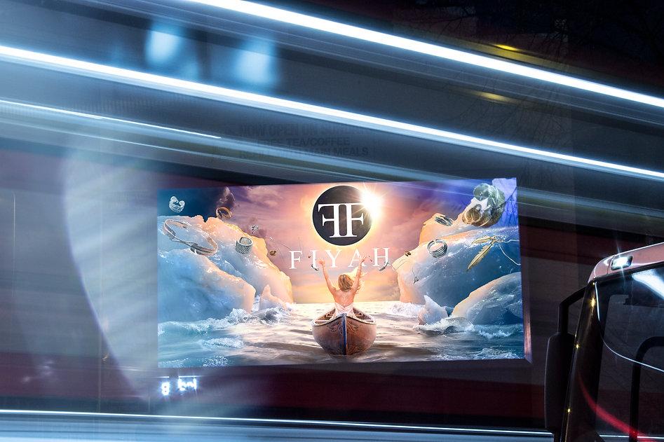 FIYAH jewelr billboard advertiing conceptual photography