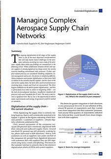 Managing Complex Aerospace Supply Chain