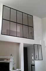 Cloison vitrée type verrière atelier