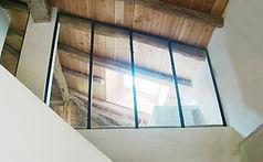 Cloison vitrée, verrière sur mezzanine