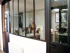Porte vitrée et verrière d'intérieur