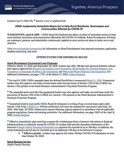 USDA_RD_SA_COVID19_ProgramImmediateActio