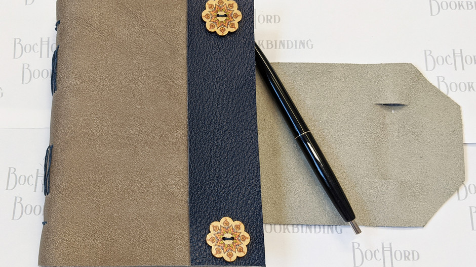 Leather Wrap-around Journal with Pen