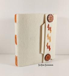 2020-01 Felt Handmade Book Orange Strap.