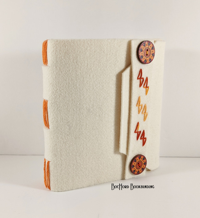 2020-01 Felt Handmade Book Orange Strap.