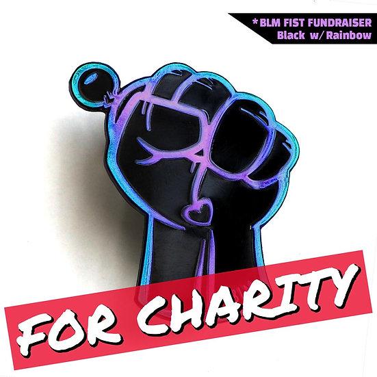 BLM Fist Rainbow Fundraiser Pin