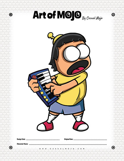 Burger Gene Mojo Print