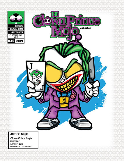 Clown Prince Mojo Print