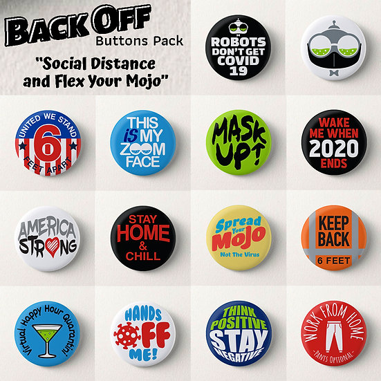 The Back Off Buttons Pack