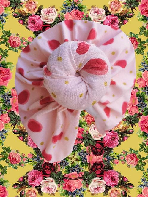Baby Pink Polka Dots (coton-bio)