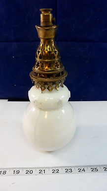 1800s Gas Lamp Shades with Brass Fitter