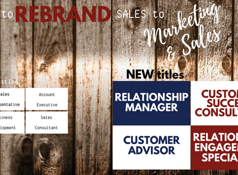 Out with the Old: Rebrand Sales
