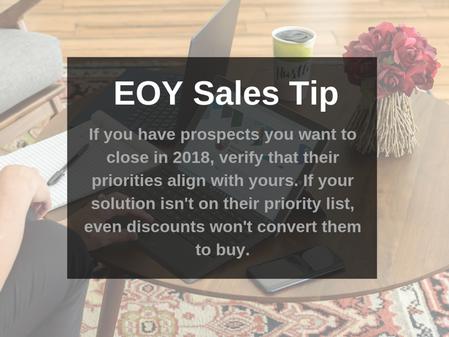 EOY Sales Tip