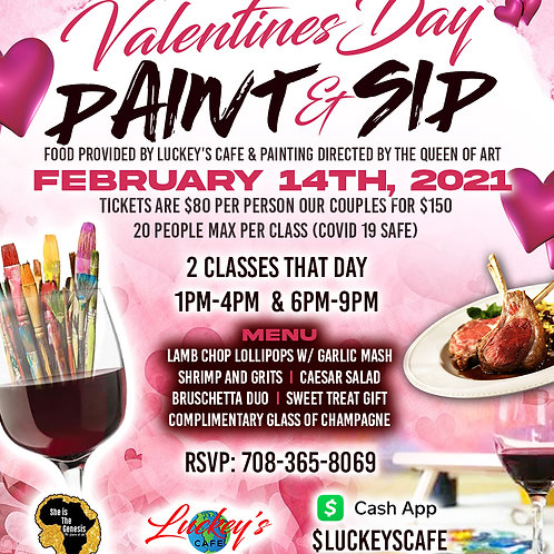 Valentine's Day 2020 Paint and Sip (Single)
