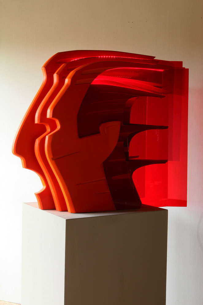 Красная голова-Огненный воин. 90х100х45  Вадим Григорьев-Башун