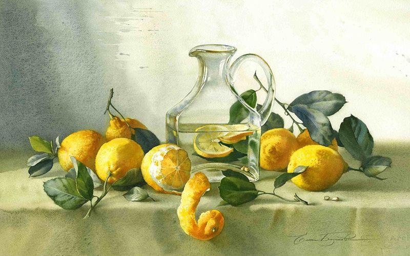 Графин с лимонами