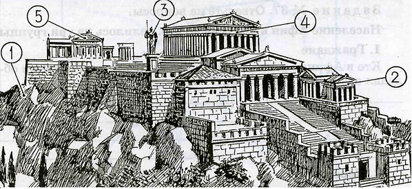 71 группа, 7 зачет по Афинскому акрополю