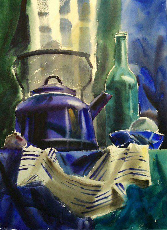 Натюрморт с синим чайником