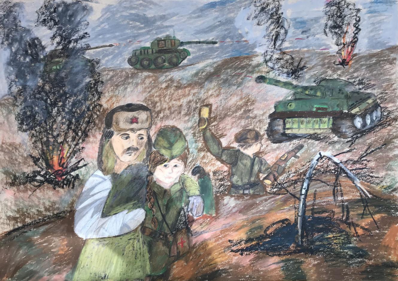 Анастасия Глазунова 12 лет, После боя. Преподаватель Серова Н.Ю.