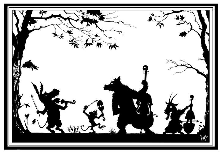 иллюстрация к сказке Бременскик музыкант