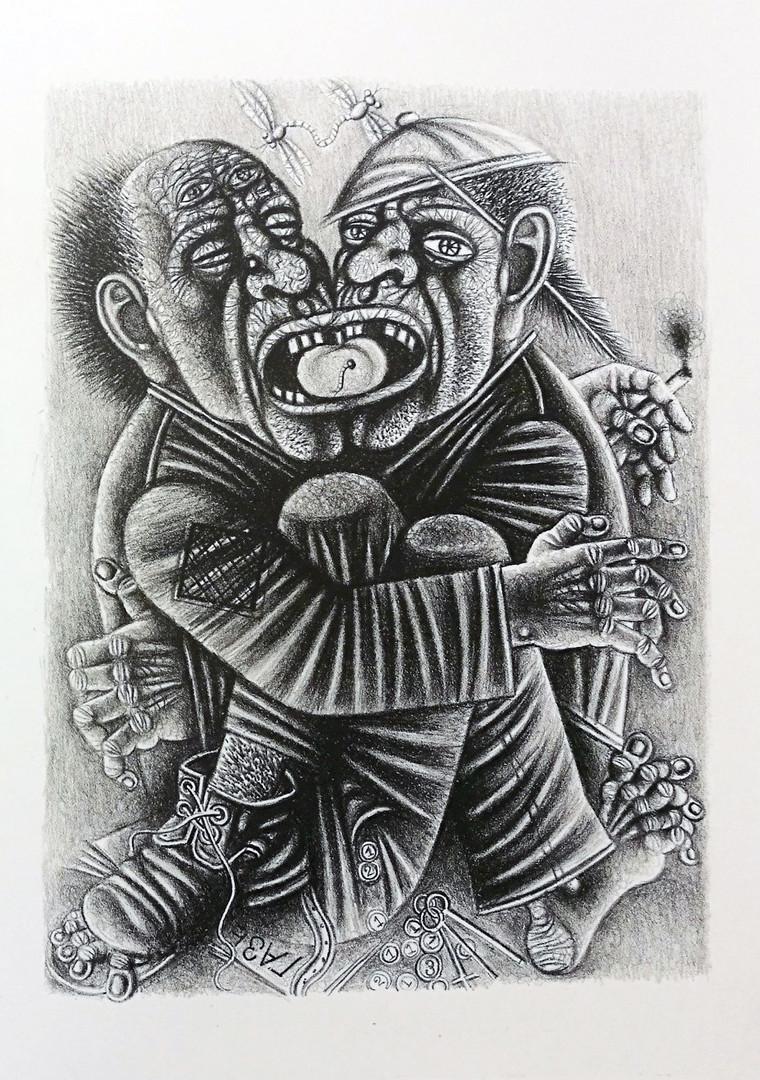 Иллюстрация к лито-книге, 30х40см, 2019 г.