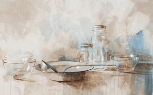 Натюрморт с тарелкой