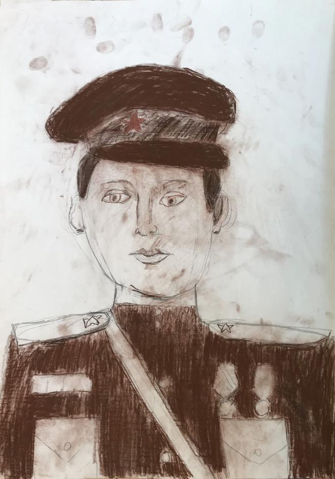 Настасья Морозова 8 лет, Портрет прадедушки. Преподаватель Островская Ж.Н.