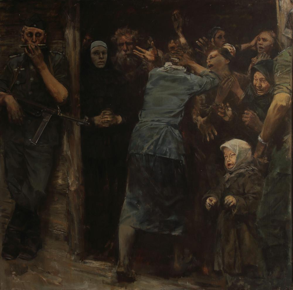 Заложники. х.м., 150х150, 1985г. О.Г. Пономаренко
