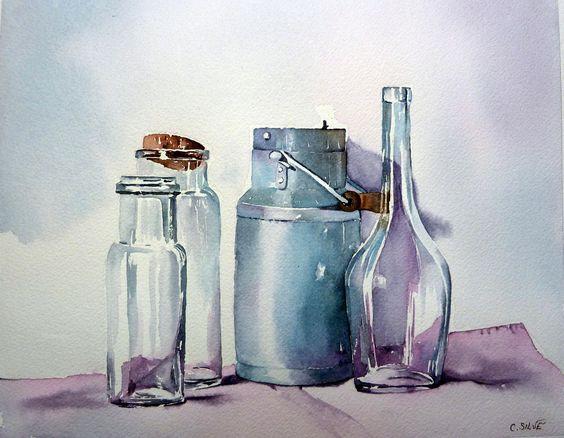 Стеклянные бутылки и бидон.jpg