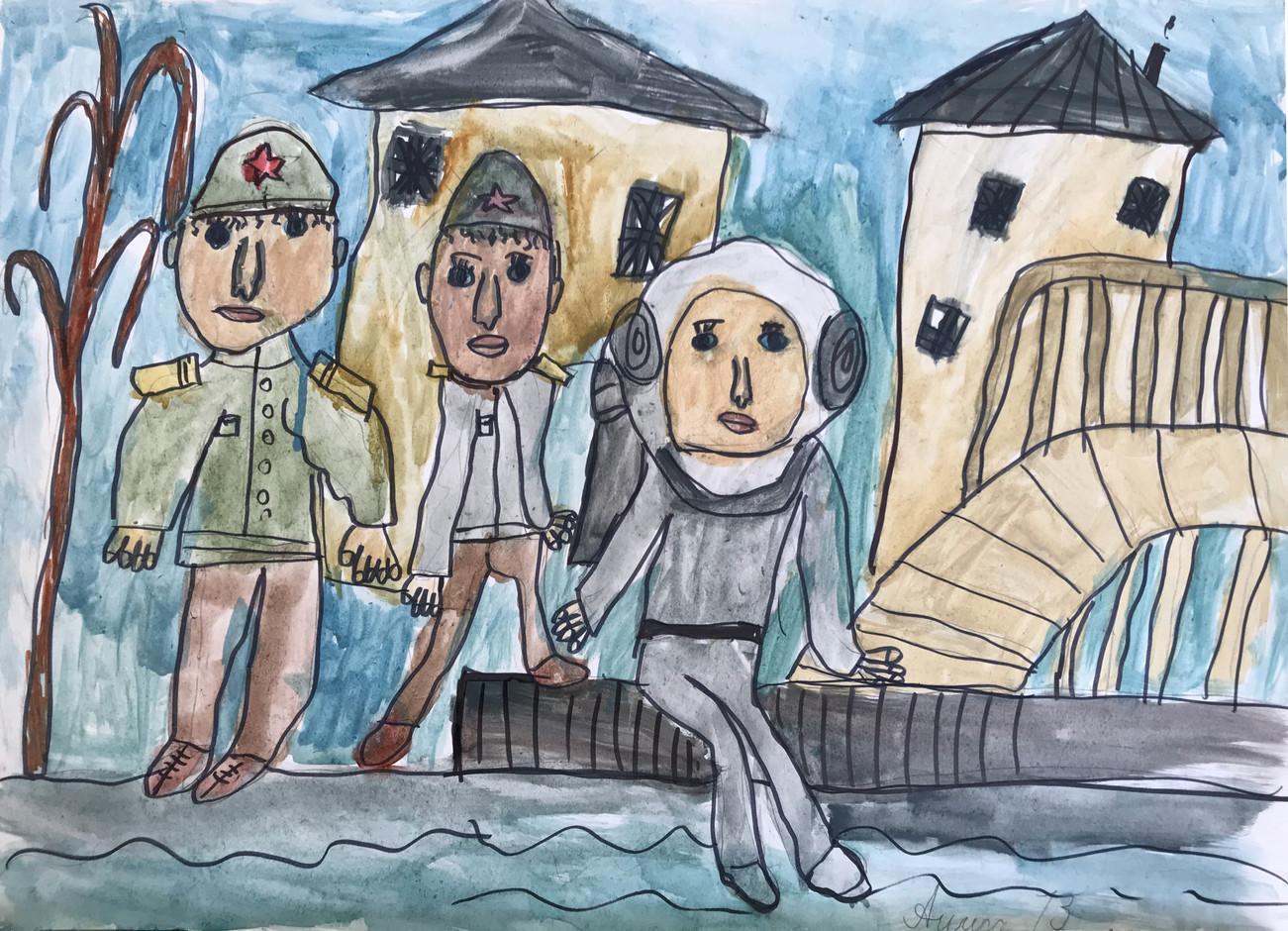 Алиса Свиридова 7 лет, Военные водолазы. Преподаватель Островская Ж.Н.