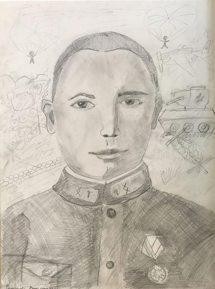 Василиса Сафонова 9 лет, Мой дед-танкист. Преподаватель Кувайкина С.М.