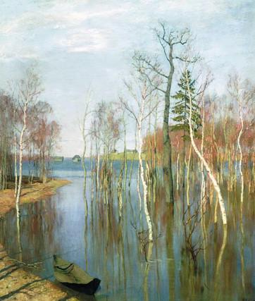 №15  И.Левитан Весна. Большая вода Ист.и