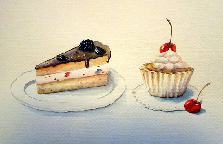 Кусочек торта и кекс.jpg