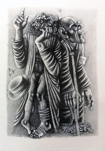 Иллюстрация к лито-книге, 30х40 см, 2019г.