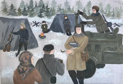 Екатерина Смирнова 14 лет, Полевая кухня. Преподаватель Изотова О.А.