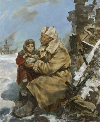 Солдатская каша. х.м., 160х130,  2015 г.  В.Л. Боровик