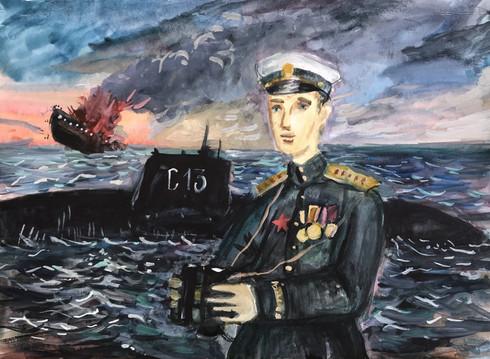 Иван Ураев 11 лет, Герой Советского Союза А.И. Маринеско. Преподаватель Ремишевский В.Б.