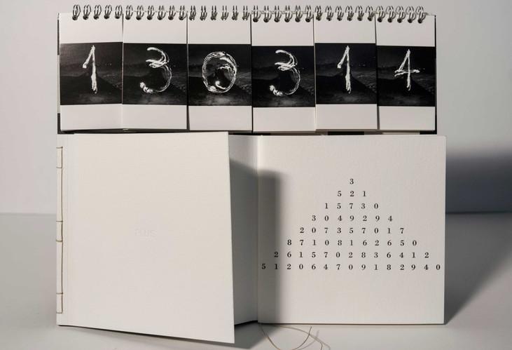 """Книжный объект календарь """"PLUS"""".Тираж 60 экз. Музей API . Женева. 2006 г. Швейцария"""