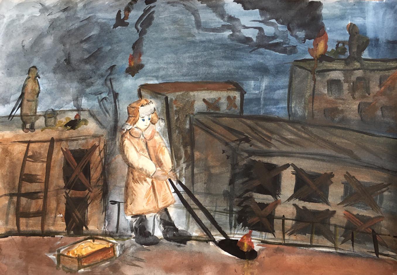 Юлия Дикан 12 лет, Ночное дежурство на крыше. Преподаватель Ремишевский В.Б.