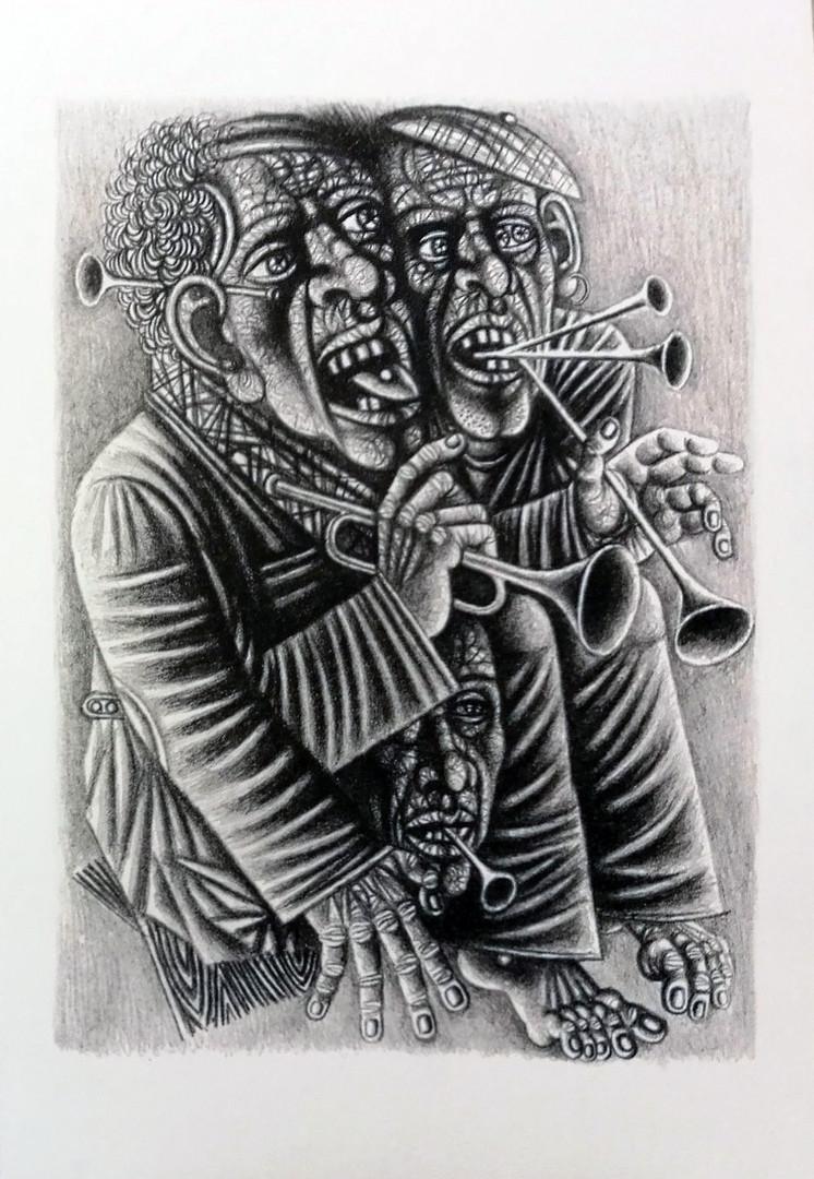 Иллюстрация к лито-книге, 30х40см,  2019г.